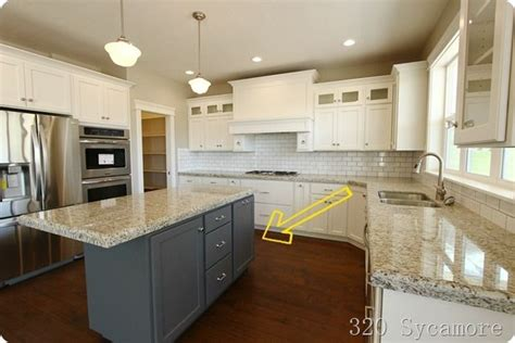 kitchen cabinets with different color island the kitchen home cooking spaces pinterest