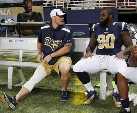chris long bench press rams notebook chris long ready to go nfl stltoday com