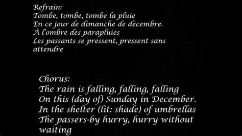 In L Lyrics by Zaz La Pluie Lyrics And