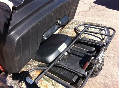 mount rear seatstorage yamaha grizzly atv forum