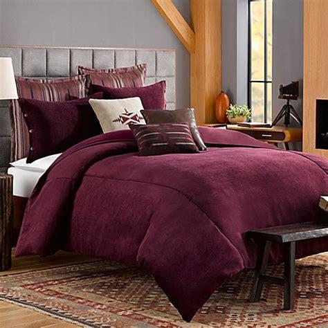 solid chenille duvet cover  purple bed bath