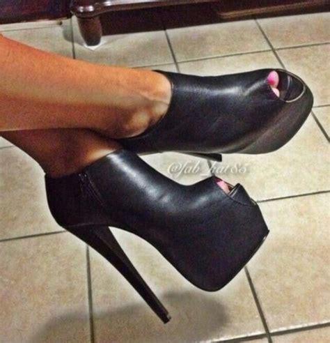 black peep toe booties shoes abs 228 tze und