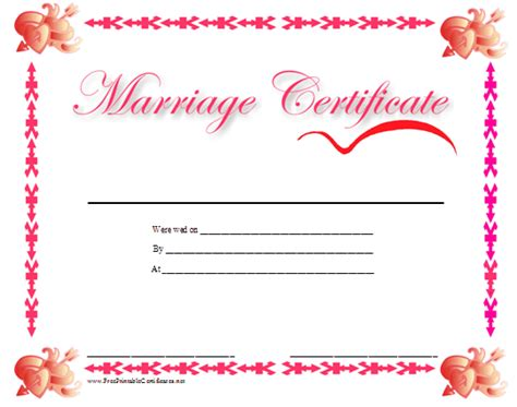 Marriage Records Usa Free Marriage Certificate Picture