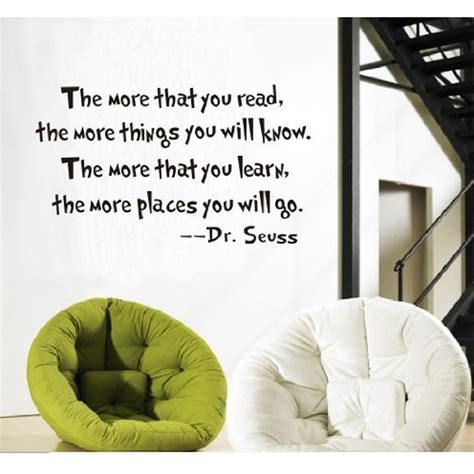 dr seuss home decor inspirational dr seuss quotes wall stickers removable decal home decor the more that you read