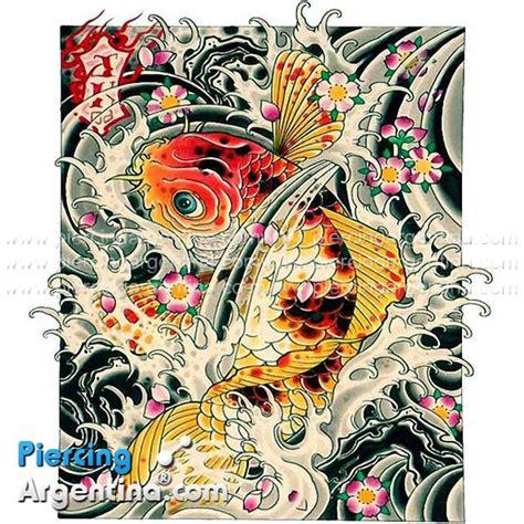 tattoo pez koi y flor de loto piercing argentina 174 piercing argentina store
