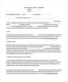 Home Lease Agreement Template 13 house rental agreement templates free sample