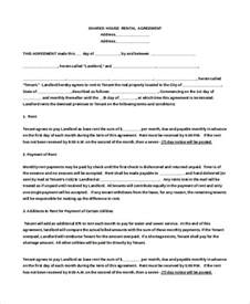 home rental agreement house rental agreement template 9 free word pdf
