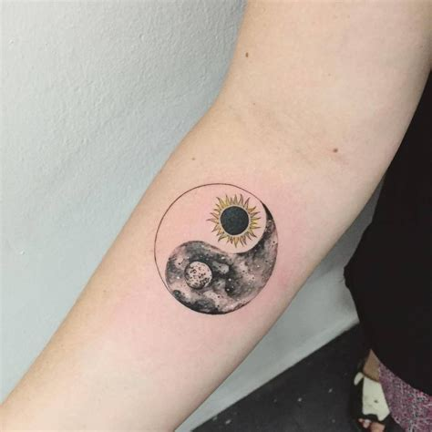 yin and yang tattoo collection of 25 yin yang and moon on back neck