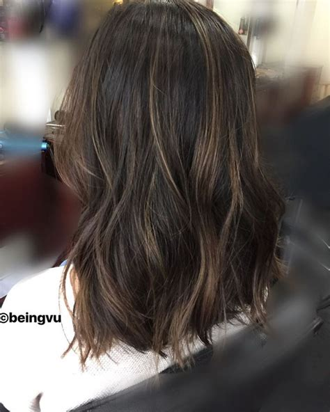 image result for blunt bangs and balayage coiffure coiffures m 232 ches et beaut 233 image result for balayage asian hair couleur idee coiffure cheveux et coiffures