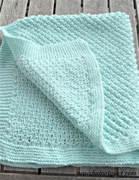 Easy Baby Blanket Knitting Patterns For Beginners