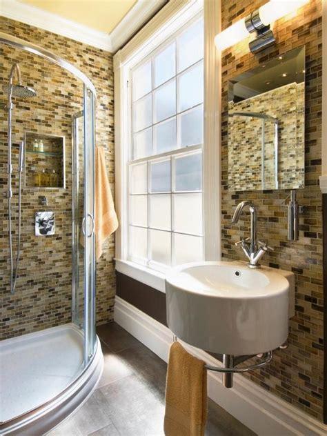brown and gray bathroom small bathrooms mean big designs