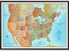 Map of Canada and United States Antique style – ProGeo ... Fancy Office