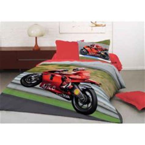 chambre enfant moto housse de couette imprim 233 e avec photo de moto pour les
