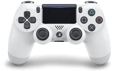 Stick Ps4 White Wireless Dualshock 4 sony ps4 dualshock 4 v2 glacier white wireless remote controller alzashop