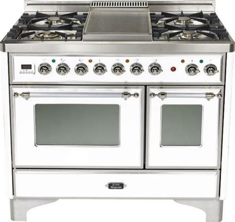 gas wall oven with warming drawer ilve umd100fdmpbx 40 quot majestic dual fuel gas range double