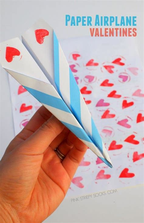 airplane valentines paper airplane valentines valentines paper and boys
