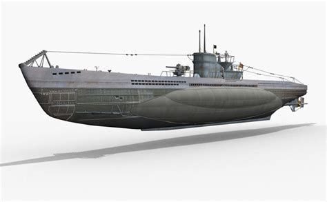 types of model boats german u boat type vii 3d model cgtrader