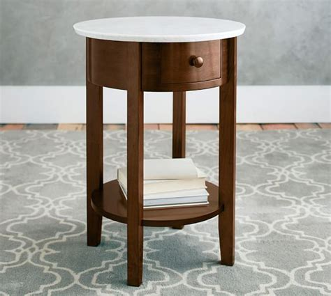 marble top bedside table bedside with marble top pottery barn
