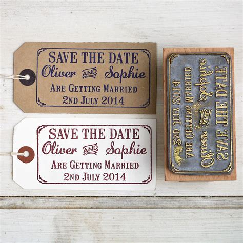rubber st companies for card save the date wedding st with border by st