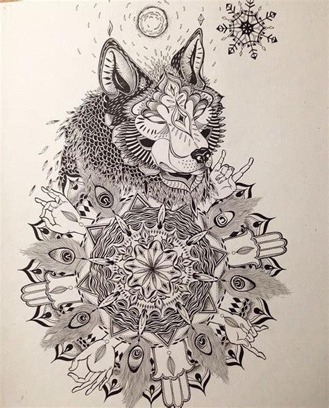 tattoo commission tattoo tattoos wolf mandala drawing