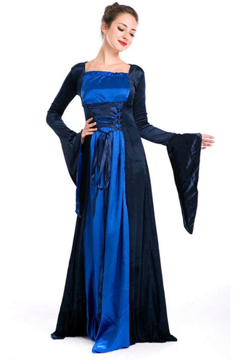 Ruri Costume Sleep Wear Bodycon Import blue womens renaissance royal costume