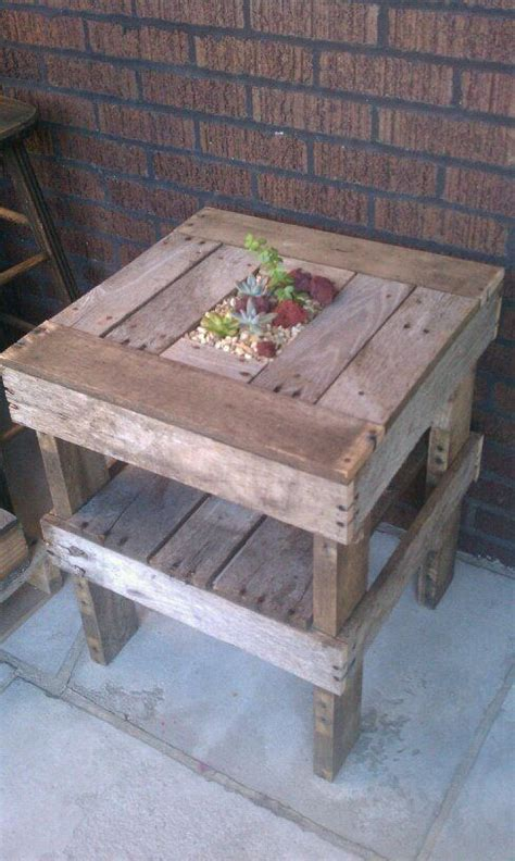 Pallet Planters For Sale by Reclaimed Wooden End Table With Planter Wood Pallet