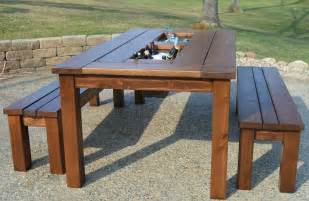 Patio Table Wood Wood Patio Table Designs Patio And Outdoor Furniture Ideas And Is Also A Of Wood Patio