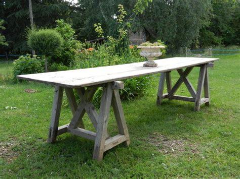 table de vendange table de vendange longueur 3m photo de stock 2