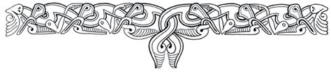 anglo saxon tattoo designs interlaced band a design from an anglo saxon war shield