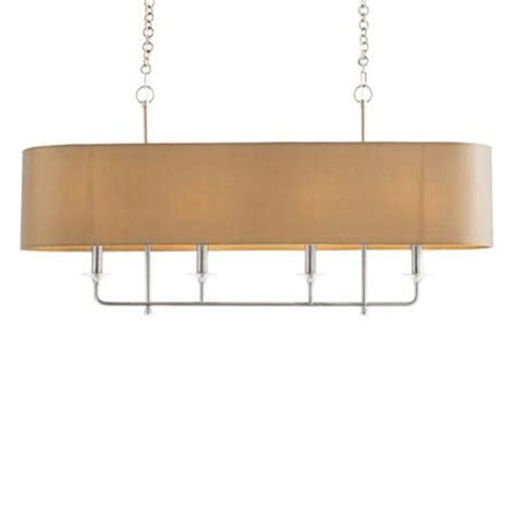 Rectangular Chandelier With Shade Rectangular Mod Loft Island Chandelier Nickel With A Taupe Silk Shade 4x25 Watts Candle Base