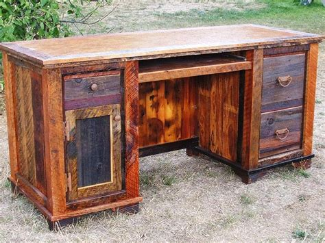 rustic wooden office desk home design wooden office