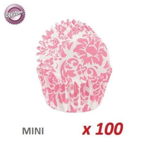 Cake Cases Oval Jumbo 2 160mm X 100 Mm Bunga mini baking cases quot damask pink quot x 100