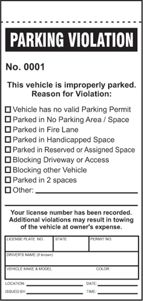free parking ticket template parking ticket y6008 by safetysign