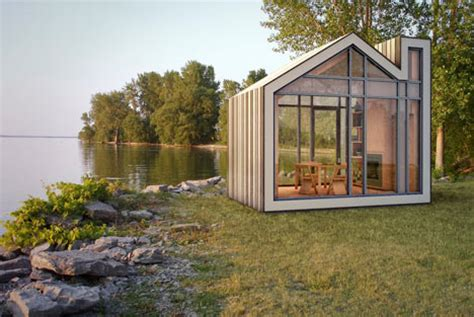 Prefab Bunkie: Cute Little House Shaped Sleeping Cottage