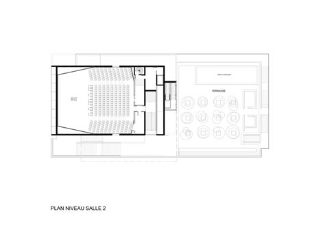 cinema floor plans gallery of etoile lilas cinema hardel et le bihan