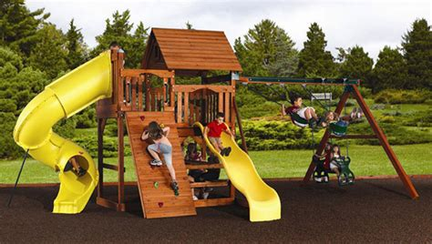 swing sets okc 3 ways backyard playsets will make your kids more active