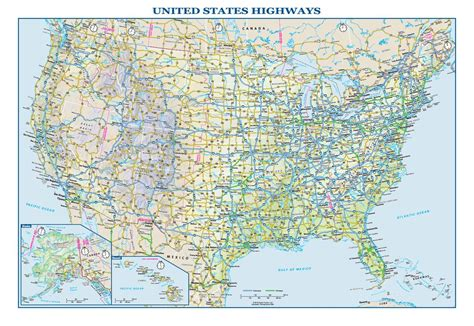 wall map of us highways usa interstate highways wall map