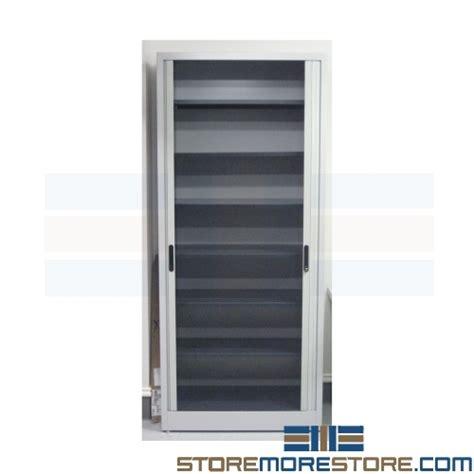 Steel Cupboard Retracting Door L35 partition height end tab filing cabinet locking office file storage rolling door cabinet