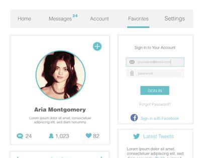 design brief user profile user profile ui design on behance