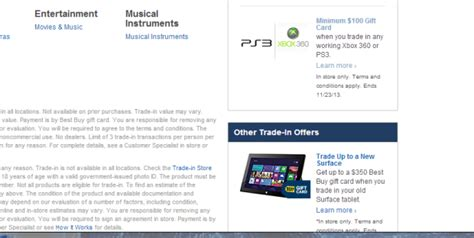 best buy ps3 bestbuy will guarantee users 100 for used xbox 360 or ps3