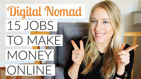 Jobs Making Money Online - become a digital nomad 15 jobs to make money online veve tube