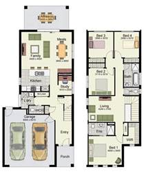double garage design duplex small house design floor plans with 3 and 4 bedrooms