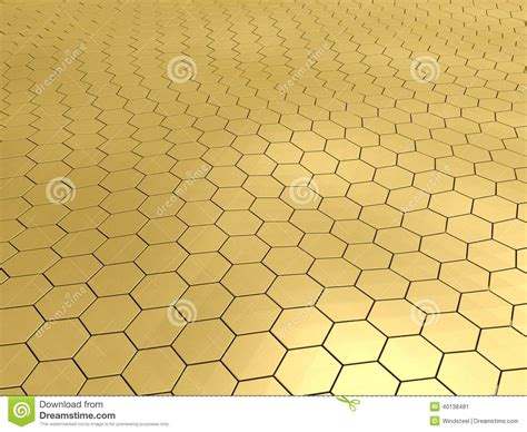gold honeycomb pattern gold honeycomb pattern background stock illustration