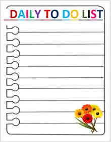 Daily To Do List Template by 9 Daily To Do List Templates Stationery Templates