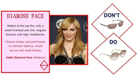 diamond face a line how to get the right eyeglasses for your face spectoworld