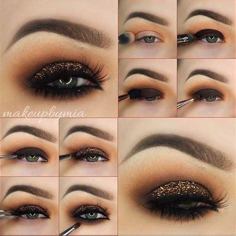 Tutorial Eyeshadow Wardah G new glittery brown eyeshadow tutorial b g fashion