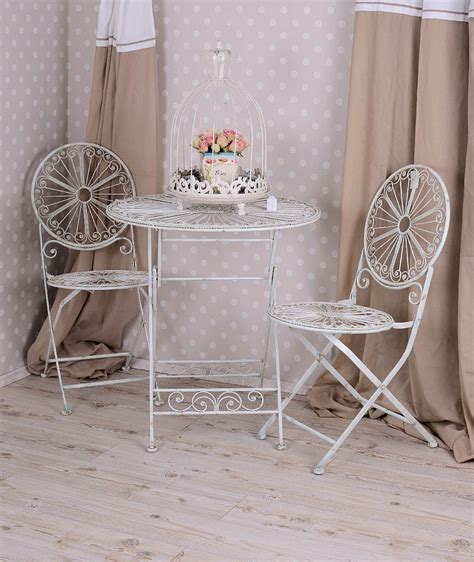 Stuhl Shabby Chic by Iron Chair Shabby Chic Garden Folding Chair White Iron