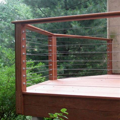 Wire Banister by Build Hog Wire Deck Railing 187 Design And Ideas
