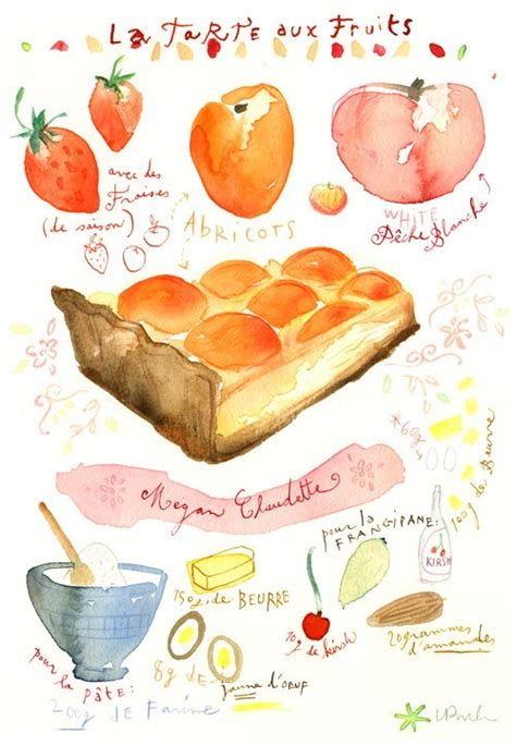 custom recipe your favorite recipe original watercolor painting