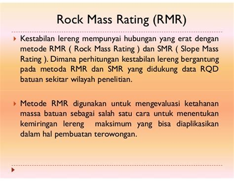 slope mass rating adalah geoteknik tambang rock mass classification system
